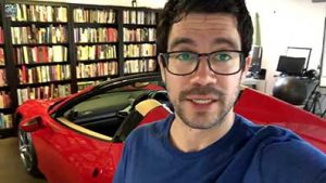 picture of tai lopez in his garage