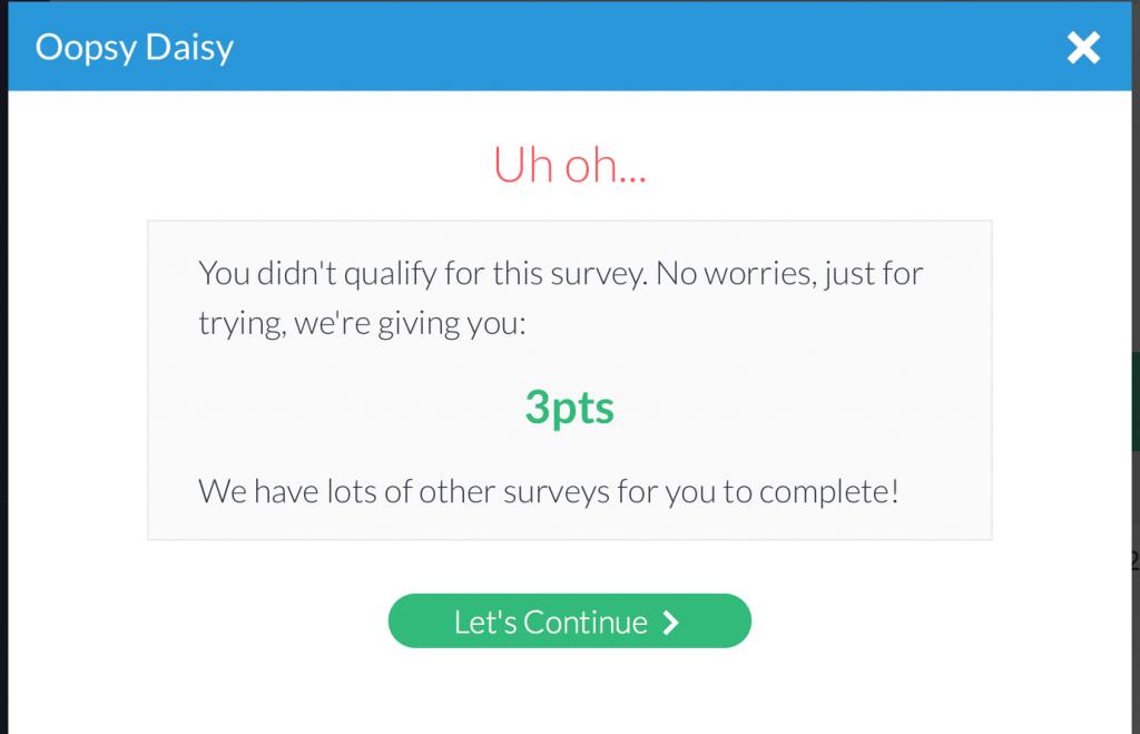 not qualified for survey junkie survey