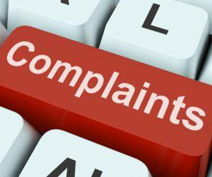 red complaints button