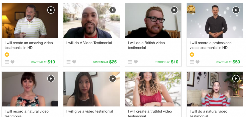 fiverr actors