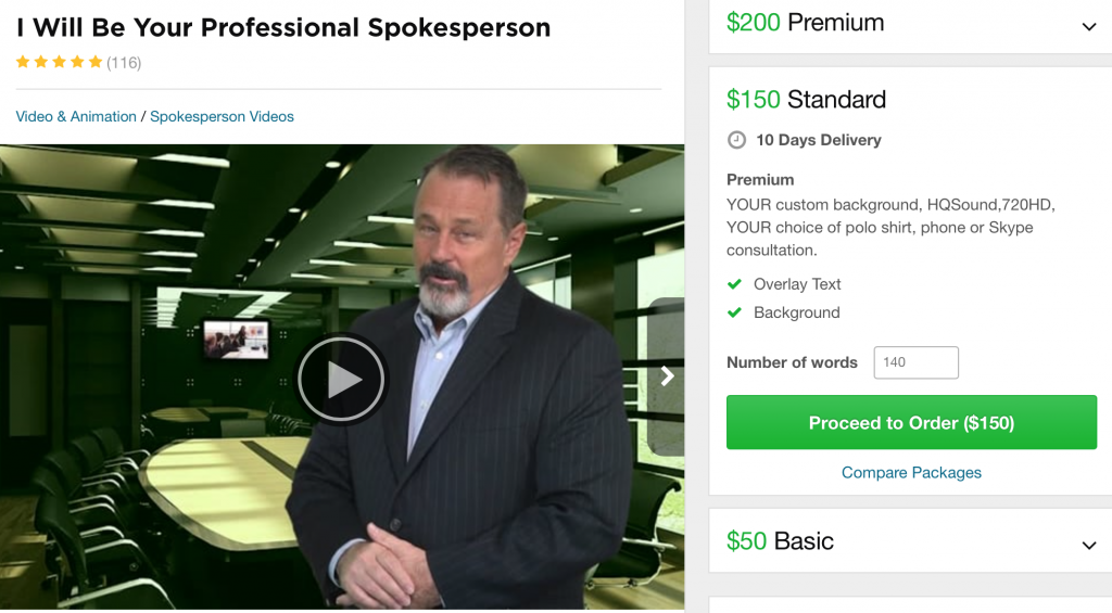 paid actor from fiverr