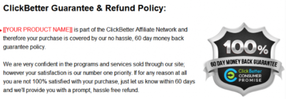 clickbetter refund policy