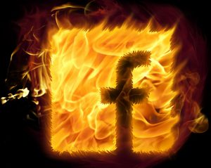 facebook on fire